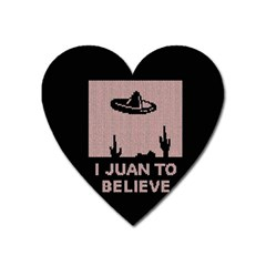 I Juan To Believe Ugly Holiday Christmas Black Background Heart Magnet by Onesevenart