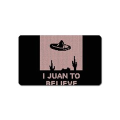 I Juan To Believe Ugly Holiday Christmas Black Background Magnet (name Card) by Onesevenart