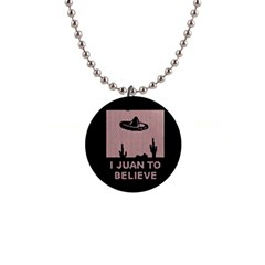 I Juan To Believe Ugly Holiday Christmas Black Background Button Necklaces by Onesevenart