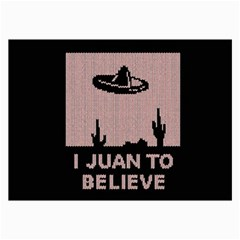 I Juan To Believe Ugly Holiday Christmas Black Background Collage Prints by Onesevenart