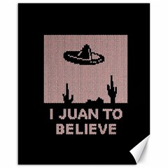 I Juan To Believe Ugly Holiday Christmas Black Background Canvas 16  X 20   by Onesevenart