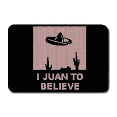 I Juan To Believe Ugly Holiday Christmas Black Background Plate Mats by Onesevenart