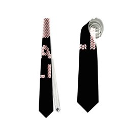 I Juan To Believe Ugly Holiday Christmas Black Background Neckties (two Side)  by Onesevenart