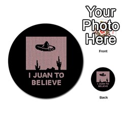 I Juan To Believe Ugly Holiday Christmas Black Background Multi Purpose Cards (round)  by Onesevenart