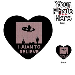 I Juan To Believe Ugly Holiday Christmas Black Background Multi Purpose Cards (heart)  by Onesevenart