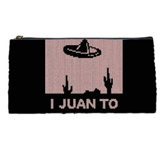 I Juan To Believe Ugly Holiday Christmas Black Background Pencil Cases by Onesevenart
