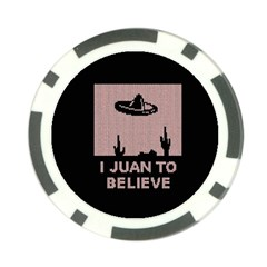 I Juan To Believe Ugly Holiday Christmas Black Background Poker Chip Card Guards (10 Pack)  by Onesevenart