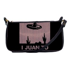 I Juan To Believe Ugly Holiday Christmas Black Background Shoulder Clutch Bags by Onesevenart