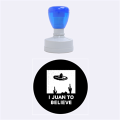 I Juan To Believe Ugly Holiday Christmas Black Background Rubber Round Stamps (medium) by Onesevenart