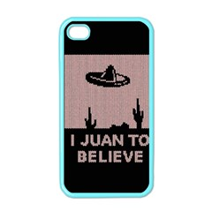 I Juan To Believe Ugly Holiday Christmas Black Background Apple Iphone 4 Case (color) by Onesevenart