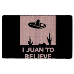 I Juan To Believe Ugly Holiday Christmas Black Background Apple Ipad 2 Flip Case by Onesevenart