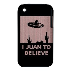 I Juan To Believe Ugly Holiday Christmas Black Background Apple Iphone 3g/3gs Hardshell Case (pc+silicone) by Onesevenart