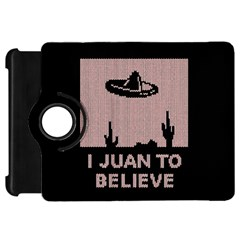 I Juan To Believe Ugly Holiday Christmas Black Background Kindle Fire Hd Flip 360 Case by Onesevenart