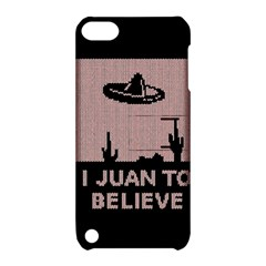I Juan To Believe Ugly Holiday Christmas Black Background Apple iPod Touch 5 Hardshell Case with Stand by Onesevenart