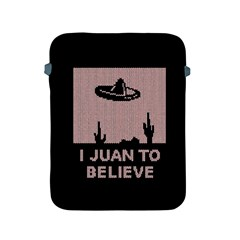 I Juan To Believe Ugly Holiday Christmas Black Background Apple Ipad 2/3/4 Protective Soft Cases by Onesevenart