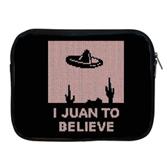I Juan To Believe Ugly Holiday Christmas Black Background Apple Ipad 2/3/4 Zipper Cases by Onesevenart
