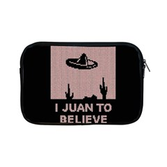 I Juan To Believe Ugly Holiday Christmas Black Background Apple Ipad Mini Zipper Cases by Onesevenart