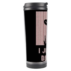 I Juan To Believe Ugly Holiday Christmas Black Background Travel Tumbler by Onesevenart