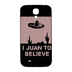 I Juan To Believe Ugly Holiday Christmas Black Background Samsung Galaxy S4 I9500/i9505  Hardshell Back Case by Onesevenart