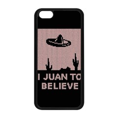 I Juan To Believe Ugly Holiday Christmas Black Background Apple Iphone 5c Seamless Case (black) by Onesevenart