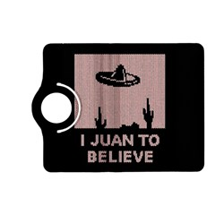 I Juan To Believe Ugly Holiday Christmas Black Background Kindle Fire Hd (2013) Flip 360 Case by Onesevenart