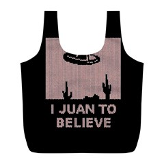 I Juan To Believe Ugly Holiday Christmas Black Background Full Print Recycle Bags (l)  by Onesevenart