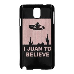 I Juan To Believe Ugly Holiday Christmas Black Background Samsung Galaxy Note 3 Neo Hardshell Case (black) by Onesevenart
