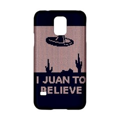 I Juan To Believe Ugly Holiday Christmas Blue Background Samsung Galaxy S5 Hardshell Case  by Onesevenart
