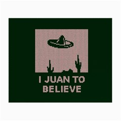 I Juan To Believe Ugly Holiday Christmas Green Background Small Glasses Cloth (2 Side) by Onesevenart