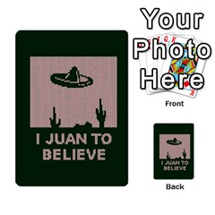 I Juan To Believe Ugly Holiday Christmas Green Background Multi Purpose Cards (rectangle)  by Onesevenart
