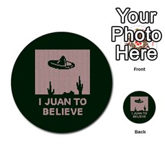 I Juan To Believe Ugly Holiday Christmas Green Background Multi Purpose Cards (round)  by Onesevenart