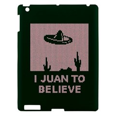 I Juan To Believe Ugly Holiday Christmas Green Background Apple Ipad 3/4 Hardshell Case by Onesevenart