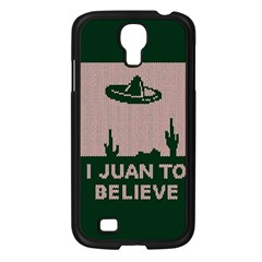 I Juan To Believe Ugly Holiday Christmas Green Background Samsung Galaxy S4 I9500/ I9505 Case (black) by Onesevenart
