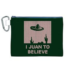 I Juan To Believe Ugly Holiday Christmas Green Background Canvas Cosmetic Bag (xl) by Onesevenart