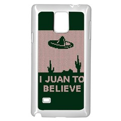 I Juan To Believe Ugly Holiday Christmas Green Background Samsung Galaxy Note 4 Case (white) by Onesevenart