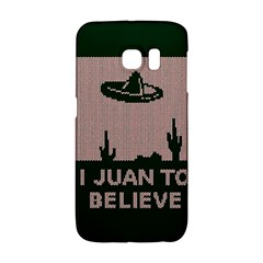 I Juan To Believe Ugly Holiday Christmas Green Background Galaxy S6 Edge by Onesevenart