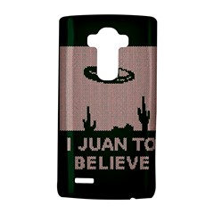 I Juan To Believe Ugly Holiday Christmas Green Background Lg G4 Hardshell Case by Onesevenart