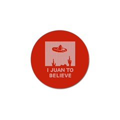 I Juan To Believe Ugly Holiday Christmas Red Background Golf Ball Marker by Onesevenart