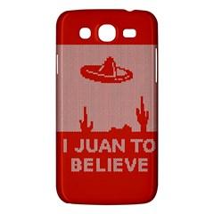 I Juan To Believe Ugly Holiday Christmas Red Background Samsung Galaxy Mega 5 8 I9152 Hardshell Case  by Onesevenart