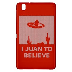 I Juan To Believe Ugly Holiday Christmas Red Background Samsung Galaxy Tab Pro 8 4 Hardshell Case by Onesevenart
