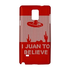 I Juan To Believe Ugly Holiday Christmas Red Background Samsung Galaxy Note 4 Hardshell Case by Onesevenart