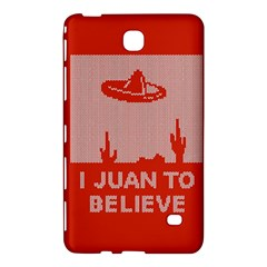 I Juan To Believe Ugly Holiday Christmas Red Background Samsung Galaxy Tab 4 (8 ) Hardshell Case  by Onesevenart