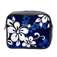 Blue Hibiscus Mini Toiletries Bag 2-Side