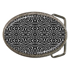 Black And White Tribal Pattern Belt Buckles by dflcprints