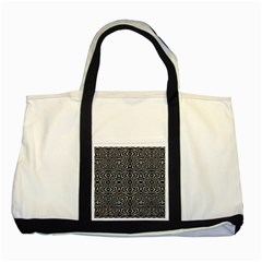 Black And White Tribal Pattern Two Tone Tote Bag by dflcprints