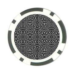 Black And White Tribal Pattern Poker Chip Card Guards by dflcprints