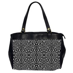 Black And White Tribal Pattern Office Handbags (2 Sides)  by dflcprints