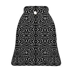 Black And White Tribal Pattern Bell Ornament (2 Sides) by dflcprints