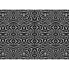 Black And White Tribal Pattern Birthday Cake 3d Greeting Card (7x5) by dflcprints