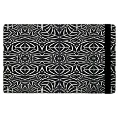 Black And White Tribal Pattern Apple Ipad 2 Flip Case by dflcprints